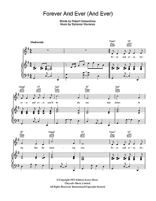 Forever And Ever (And Ever) Sheet Music