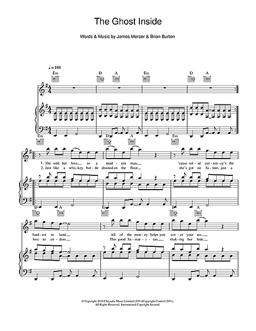 The Ghost Inside Sheet Music