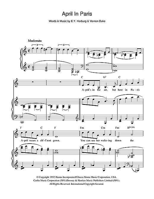 April In Paris Sheet Music