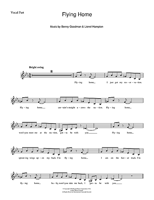 Flying Home (Lead Sheet / Fake Book)