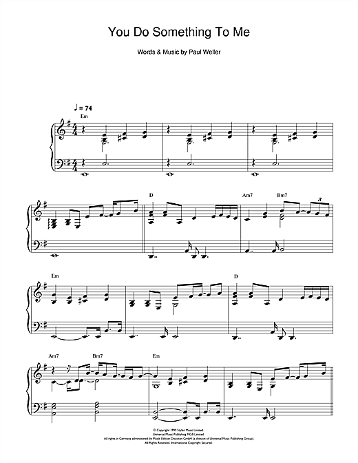 You Do Something To Me Sheet Music