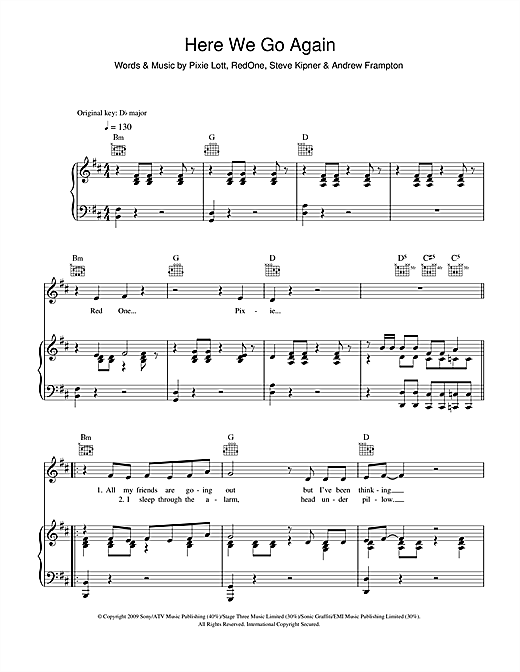 Here We Go Again Sheet Music