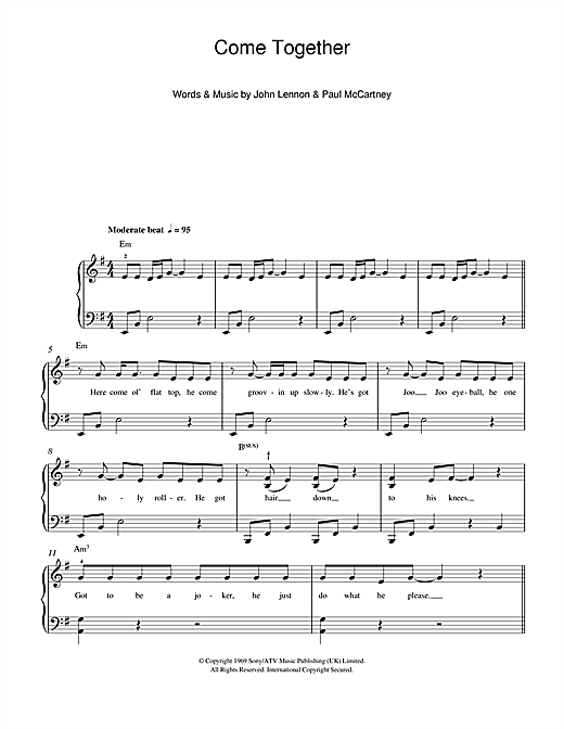 Come Together Sheet Music