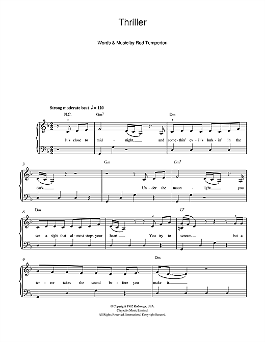 Thriller Sheet Music