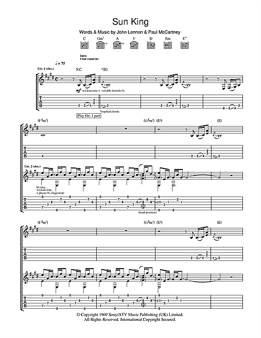 Sun King Sheet Music