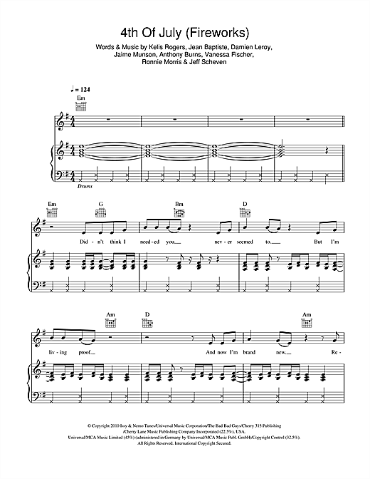 4th Of July (Fireworks) Sheet Music