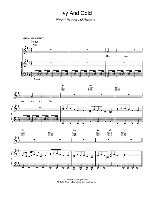 Ivy & Gold (Piano, Vocal & Guitar (Right-Hand Melody))