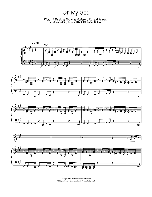 Oh My God Sheet Music