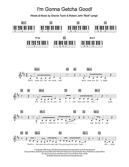 I'm Gonna Getcha Good! Sheet Music