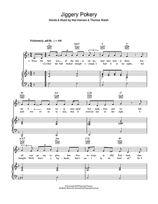 Jiggery Pokery Sheet Music