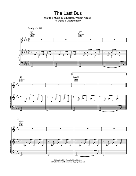 The Last Bus Sheet Music