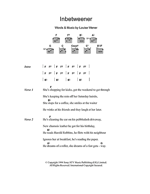 Inbetweener Sheet Music