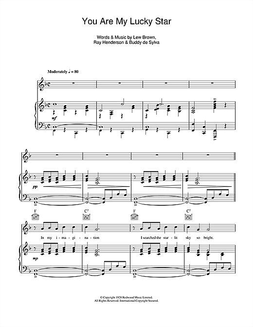 You Are My Lucky Star Sheet Music