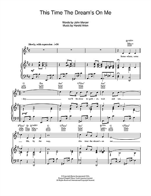 This Time The Dream's On Me Sheet Music