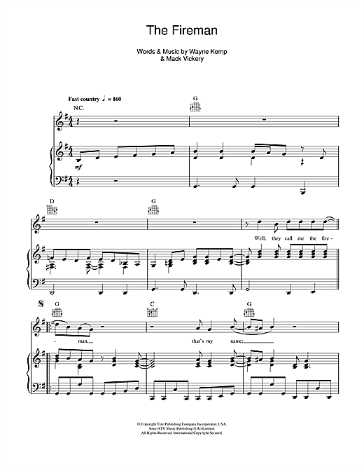 The Fireman (Piano, Vocal & Guitar (Right-Hand Melody))