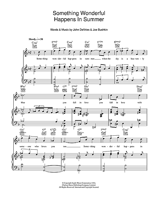 Something Wonderful Happens In Summer Sheet Music