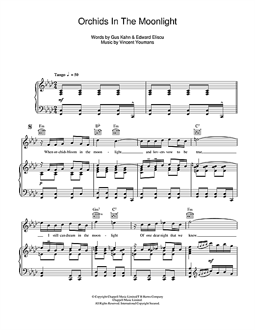 Orchids In The Moonlight Sheet Music