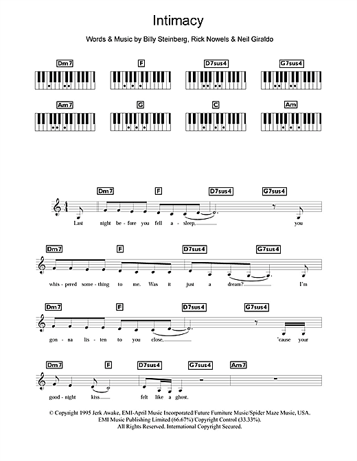 Intimacy Sheet Music