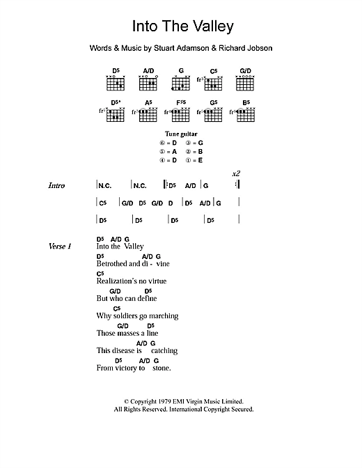 Into The Valley (Guitar Chords/Lyrics)