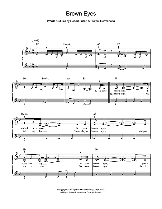 Brown Eyes Sheet Music