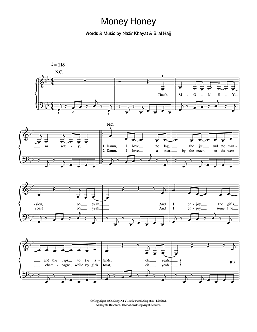 Money Honey Sheet Music