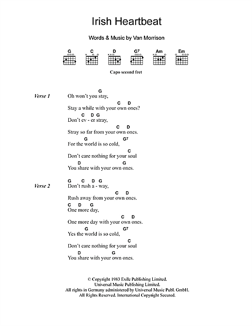 Irish Heartbeat Sheet Music