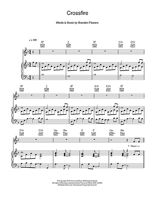 Crossfire Sheet Music