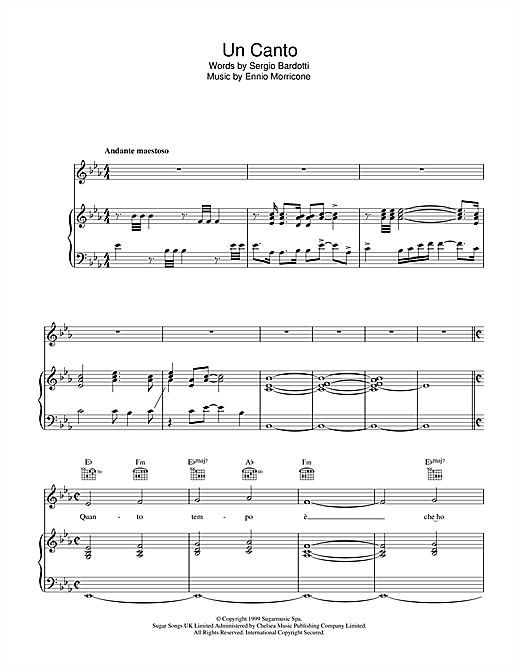 Un Canto Sheet Music