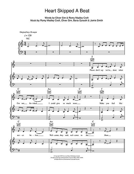 Heart Skipped A Beat Sheet Music