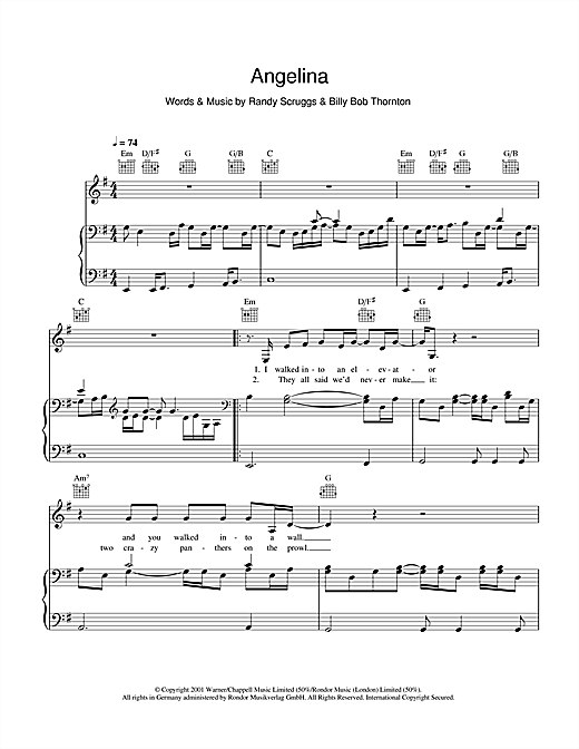 Angelina Sheet Music