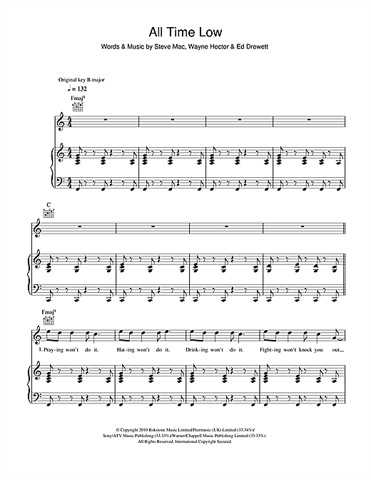 All Time Low Sheet Music