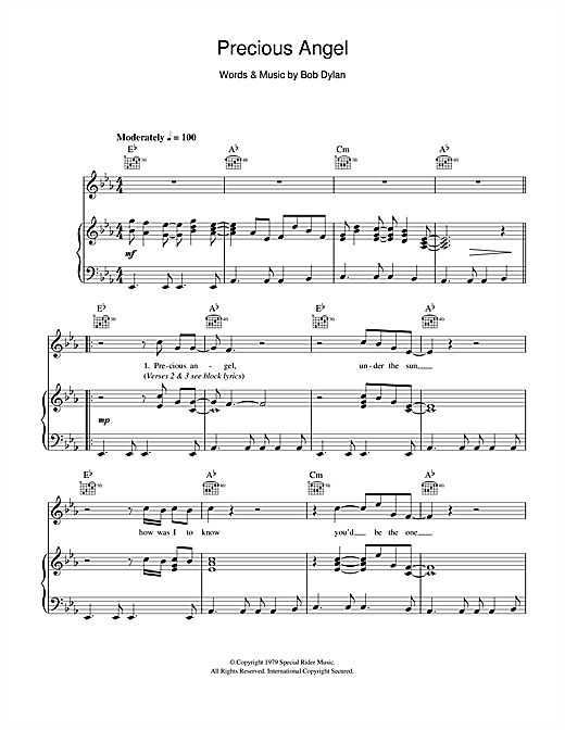 Precious Angel Sheet Music