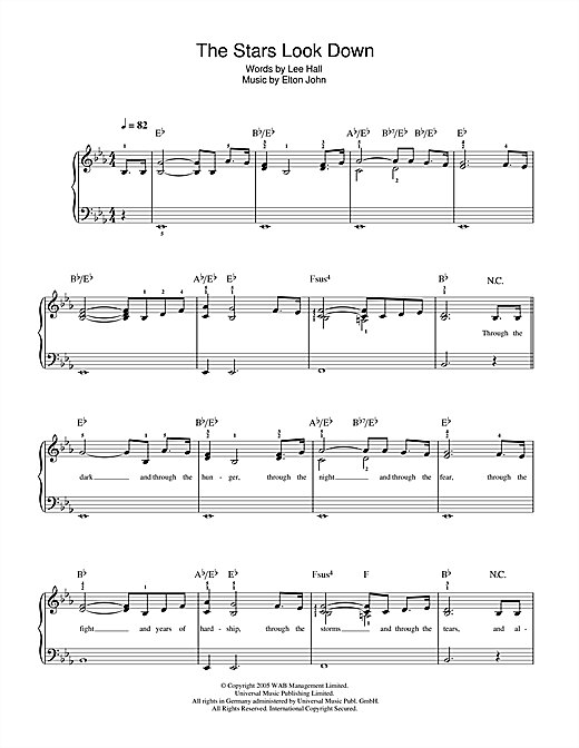The Stars Look Down (from Billy Elliot: The Musical) Sheet Music
