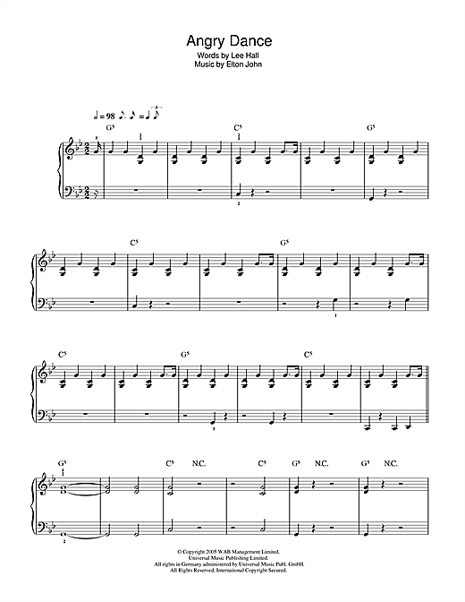 Angry Dance (from Billy Elliot: The Musical) Sheet Music