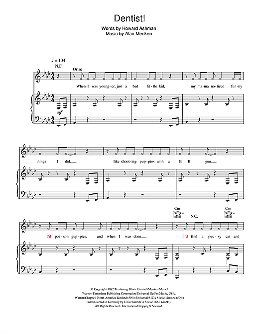 Dentist! (from Little Shop Of Horrors) Sheet Music