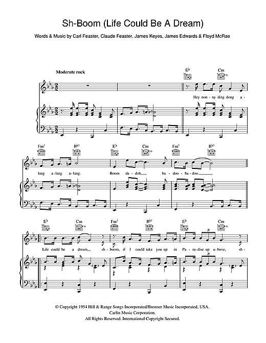 Sh-Boom (Life Could Be A Dream) Sheet Music
