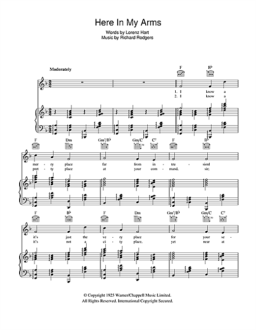 Here In My Arms Sheet Music