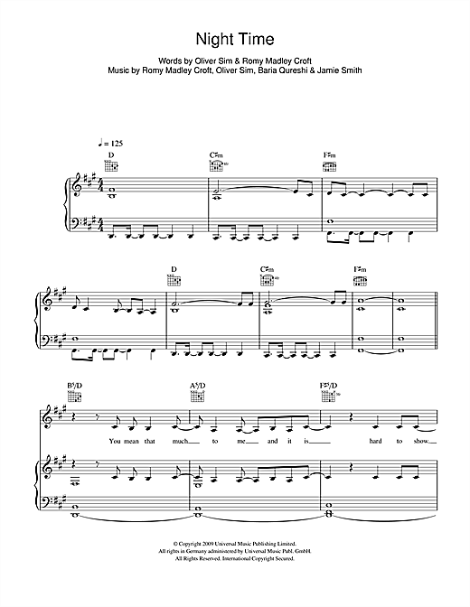 Night Time Sheet Music