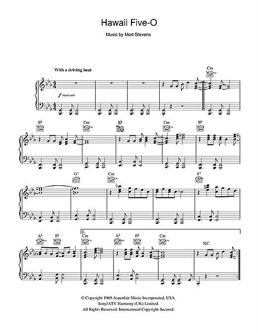 Hawaii Five-O Sheet Music