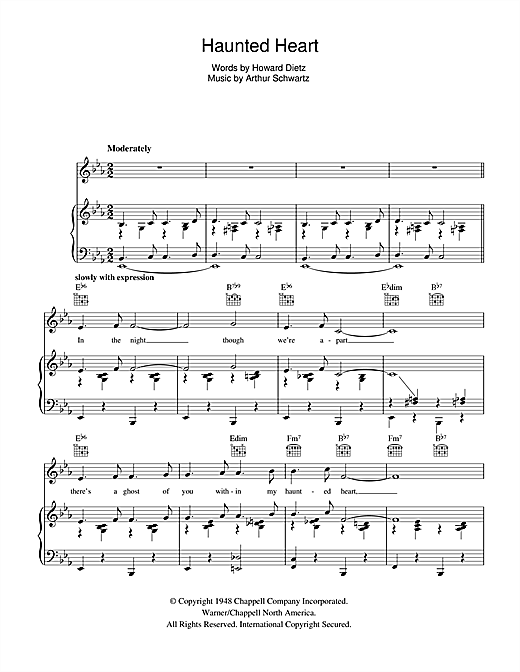 Haunted Heart Sheet Music