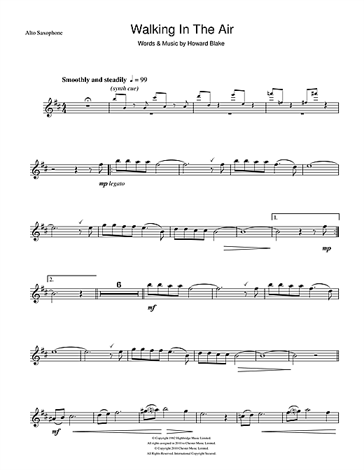 Walking In The Air (theme from The Snowman) Sheet Music