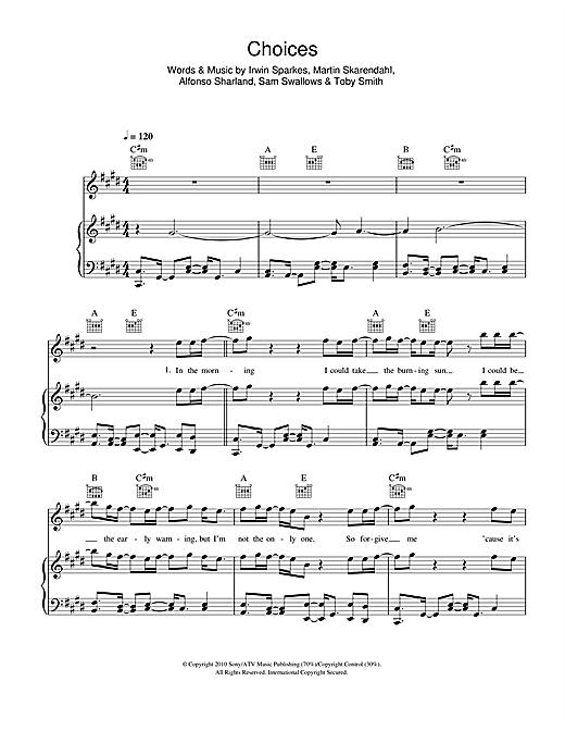 Choices Sheet Music