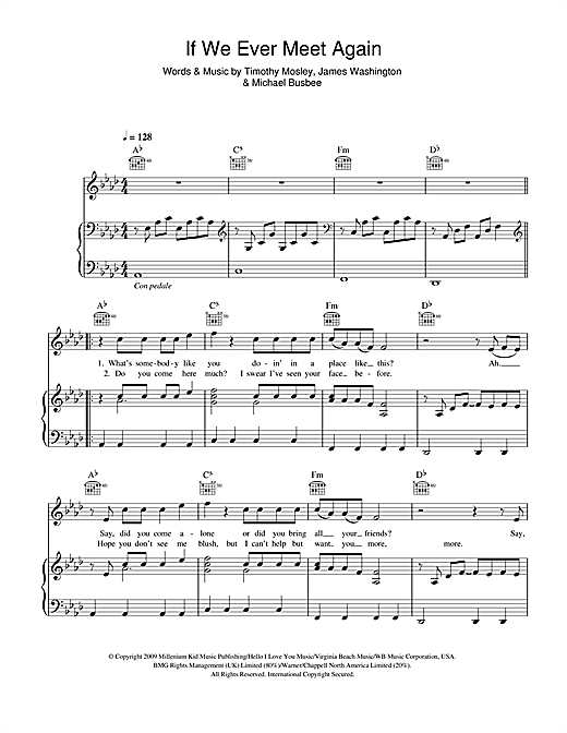 If We Ever Meet Again (feat. Katy Perry) Sheet Music