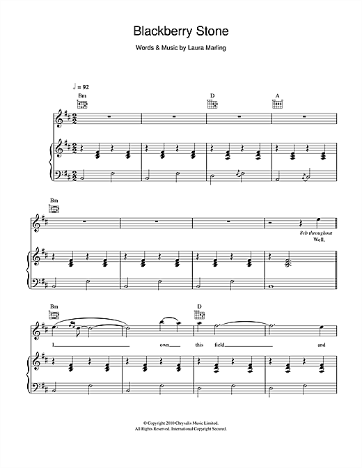 Blackberry Stone Sheet Music