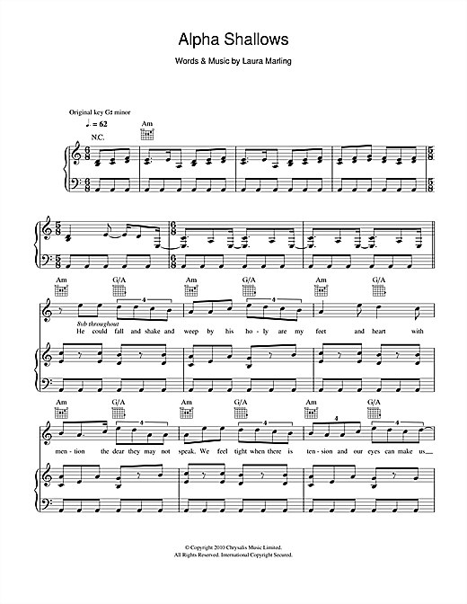 Alpha Shallows Sheet Music