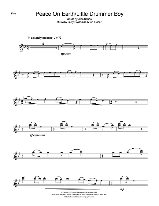 Peace On Earth Sheet Music