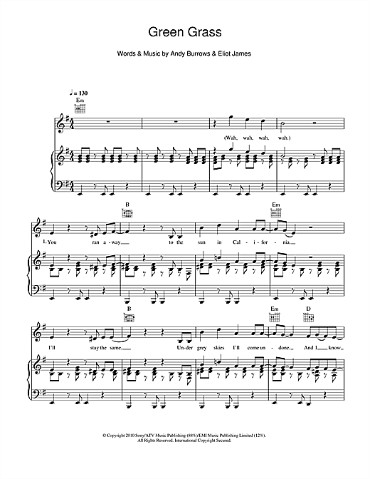 Green Grass Sheet Music