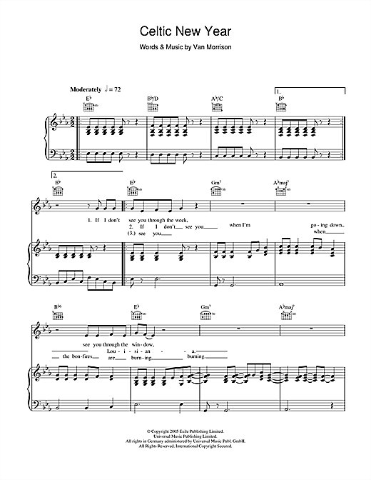 Celtic New Year Sheet Music