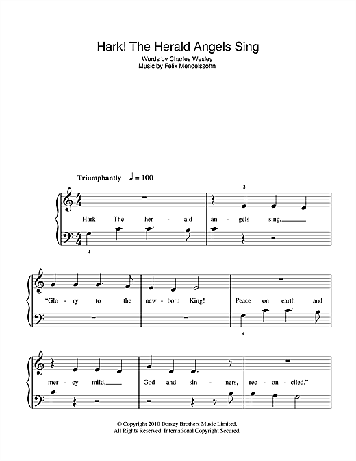 Hark! The Herald Angels Sing Sheet Music