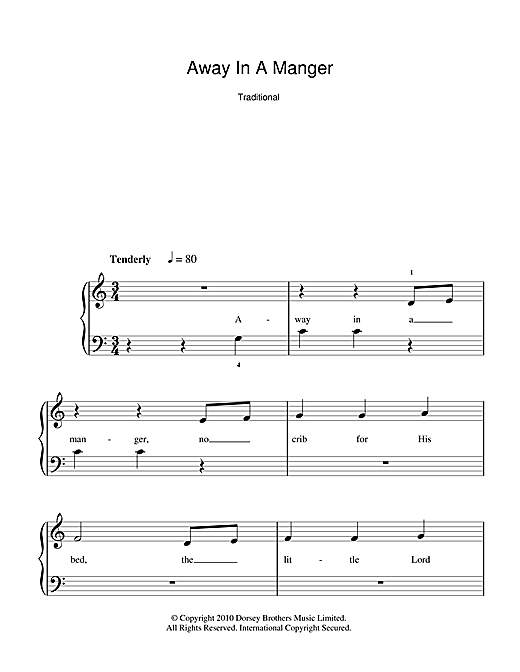 Away In A Manger (5-Finger Piano)